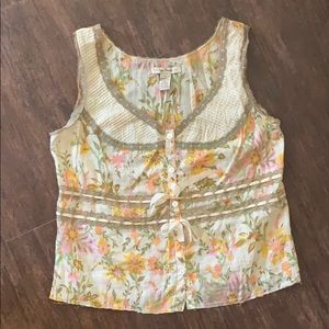 Free People Watercolor Tie Top